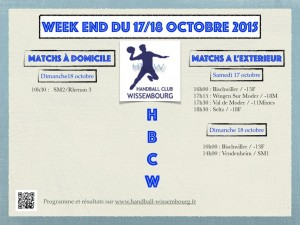 Programme weekend 17/18 octobre 2015