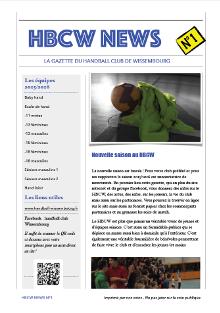 HBCW News n°1