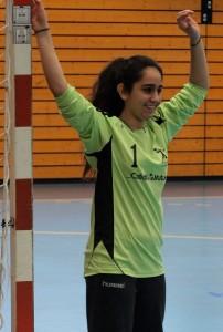 Selin Dincksoy, gardienne des 15 ans de Wissembourg, précieuse pour son équipe.