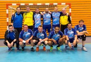 Les seniors masculins, champions du Bas-Rhin en Honneur.